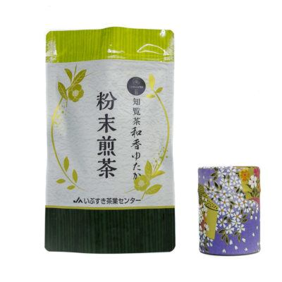 High-grade green-tea Sencha powder from Chiran, Japan